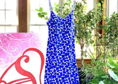 KENYA FRENCH BLUE DRESS
